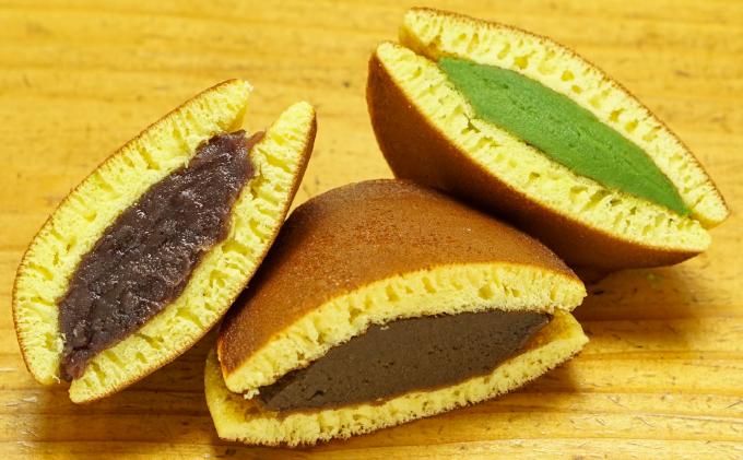 お茶屋の生どらやき(3種/12個入 抹茶/焙じ茶/粒餡)手作り和菓子