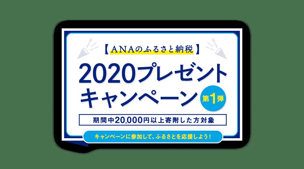 2020プレゼントキャンペーン 期間中20,000円以上寄附した方対象