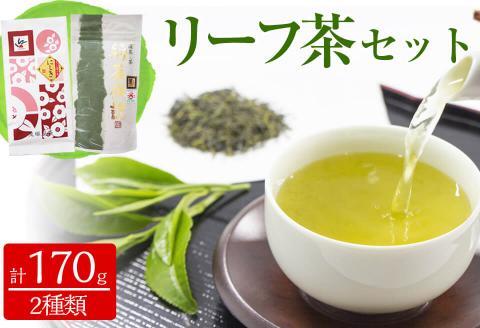 志布志市産のリーフ茶 2点飲み比べセット(和香園・鬼塚製茶)